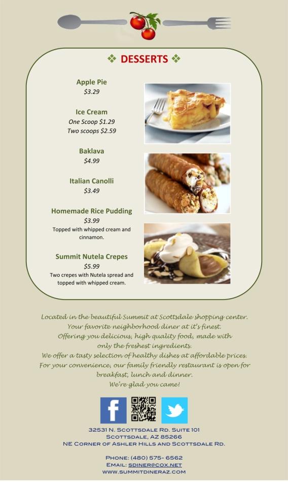 summit diner menu
